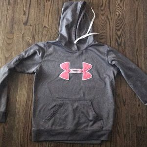 Under Armour Silver and pink sweat shirt